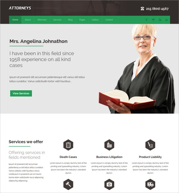 Corporate WordPress Website Theme $49