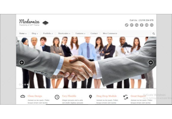 corporate wordpress website theme