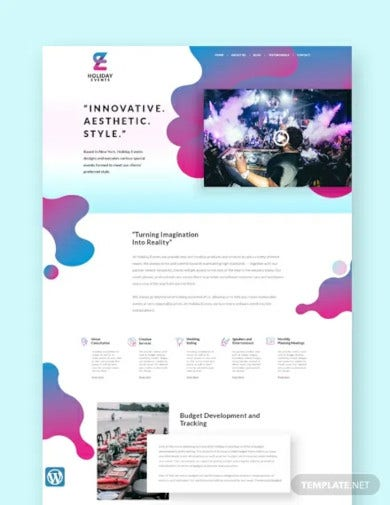 event planner wordpress theme template