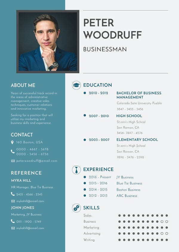 free-business-resume-template