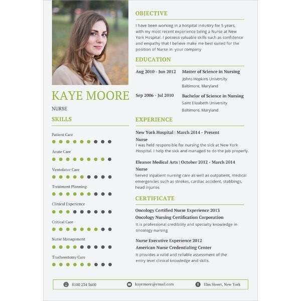 nursing resume photoshop template1