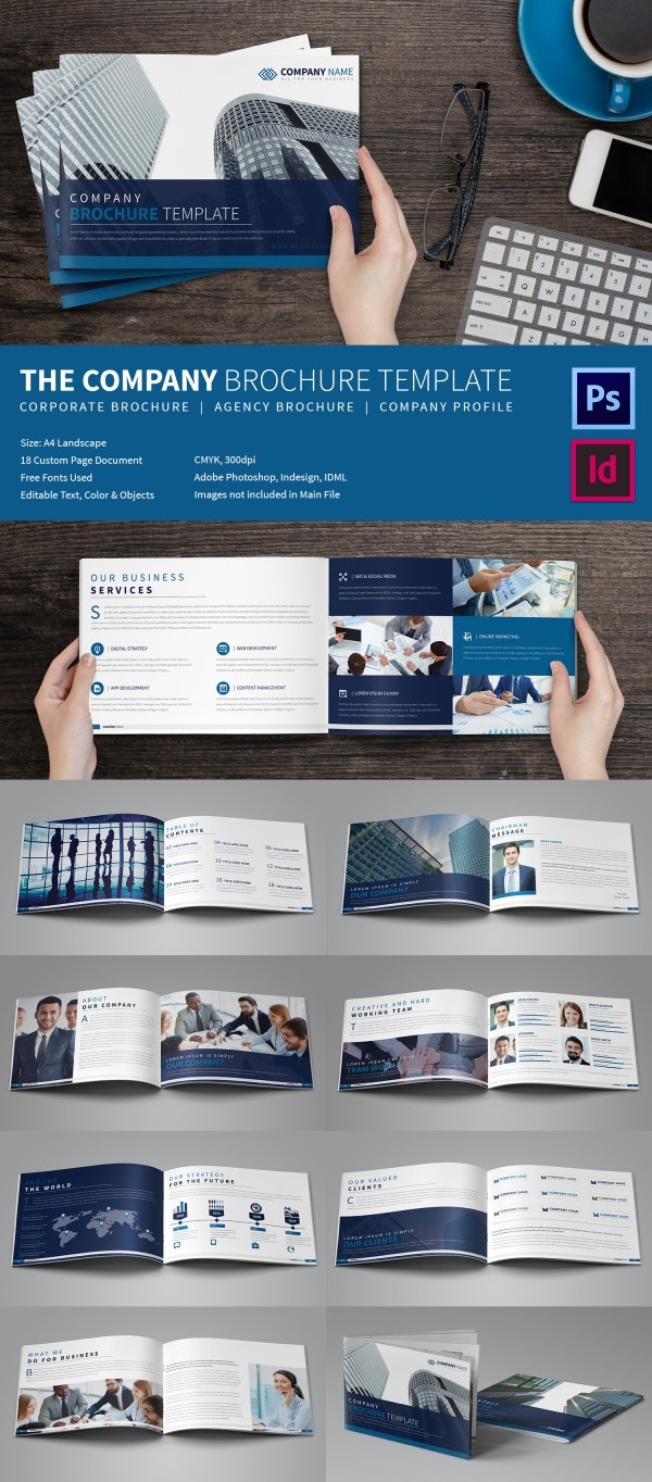 20 Best Free And Premium Corporate Brochure Templates Free Company Brochure  Corporate Brochure Templates Business Pamphlet Templates  Business Pamphlet Templates Free