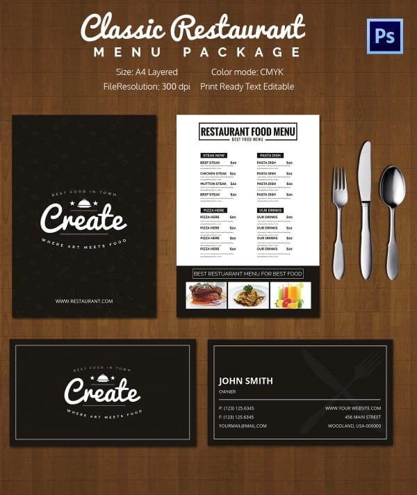 Restaurant_Classic_menu_Package