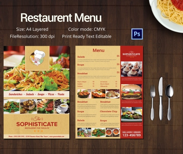 Menu Template |Restaurant Menu template | All Form Templates