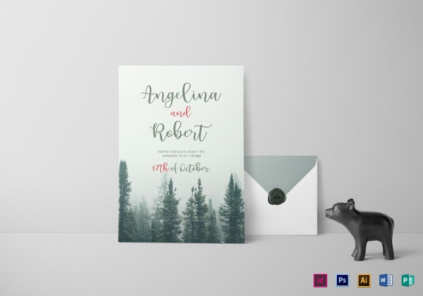 beautiful-pine-tree-wedding-invitation