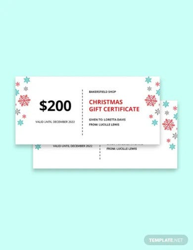 creative christmas gift certificate template1