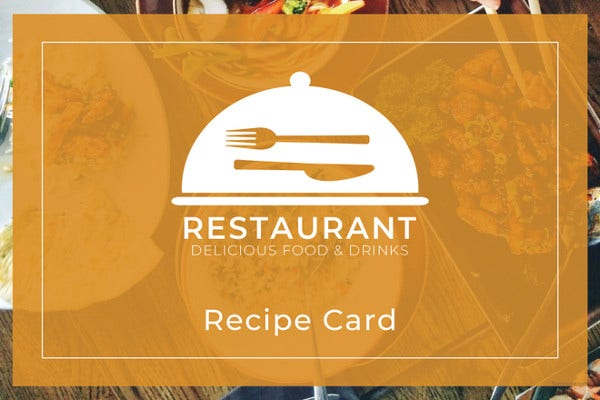 17 Recipe Card Templates Free Psd Word Pdf Eps Format