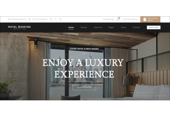 hotel booking hotel wordpress theme