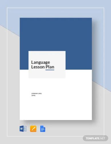 language lesson plan template