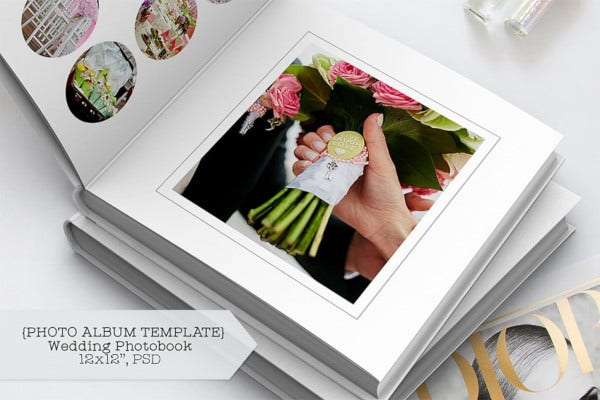photographer wedding album design