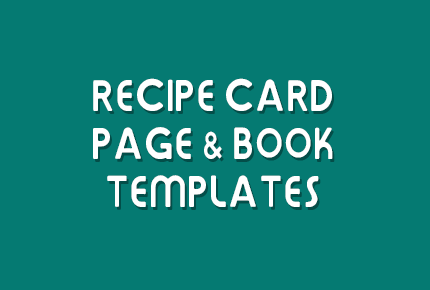 recipe card page book templates1