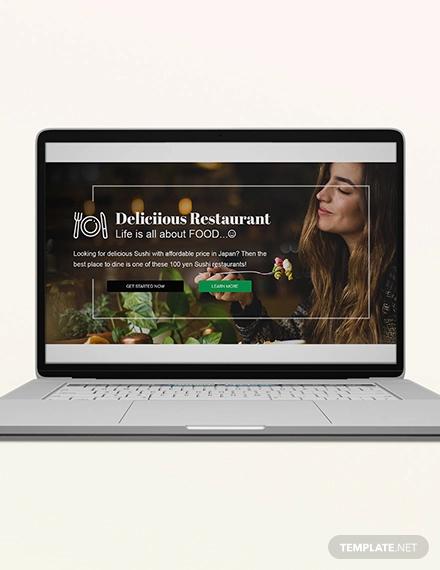 restaurant blog header template