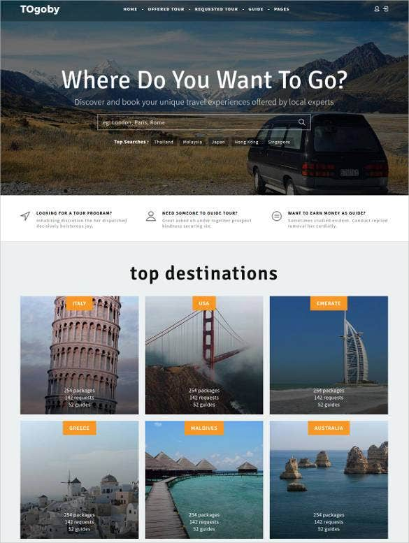 55  tourism website themes  u0026 templates