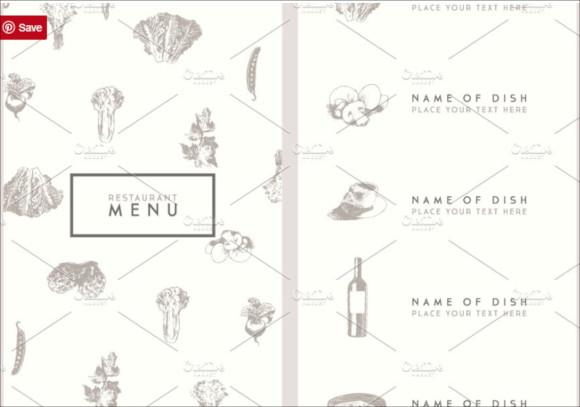 trendy restaurant menu template