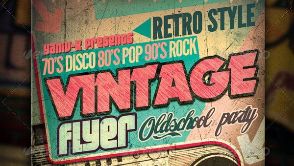 19  stylish vintage flyer templates