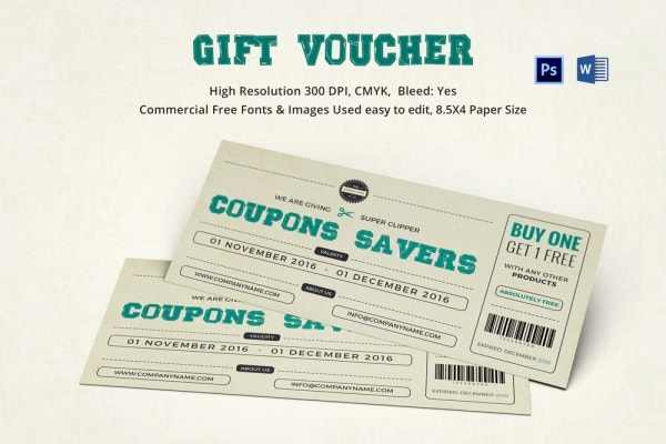 Coupon Voucher Design Template 26 Free Word JPG PSD Format – Free Templates for Coupons