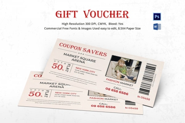 coupon voucher design template