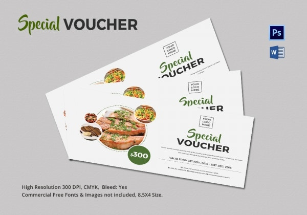 Coupon voucher design template 26 free word jpg psd for Free meal coupon template
