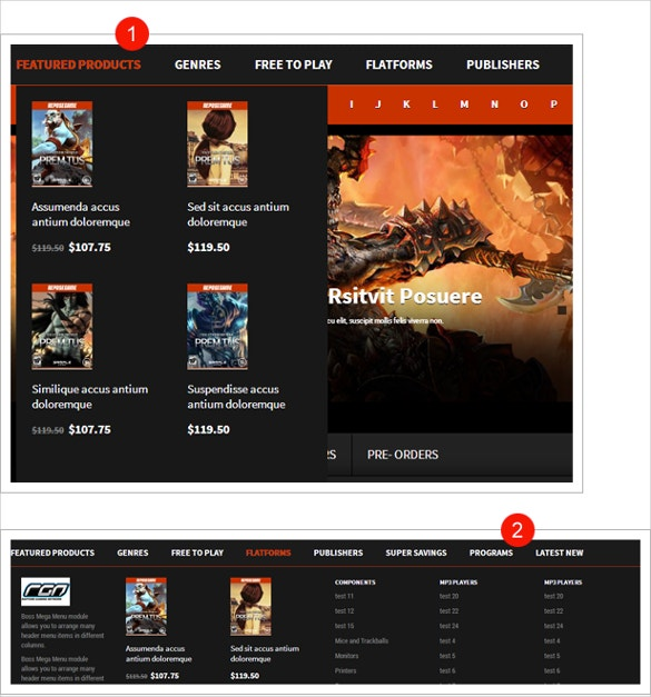 Entertainment Game OpenCart Website Theme $69