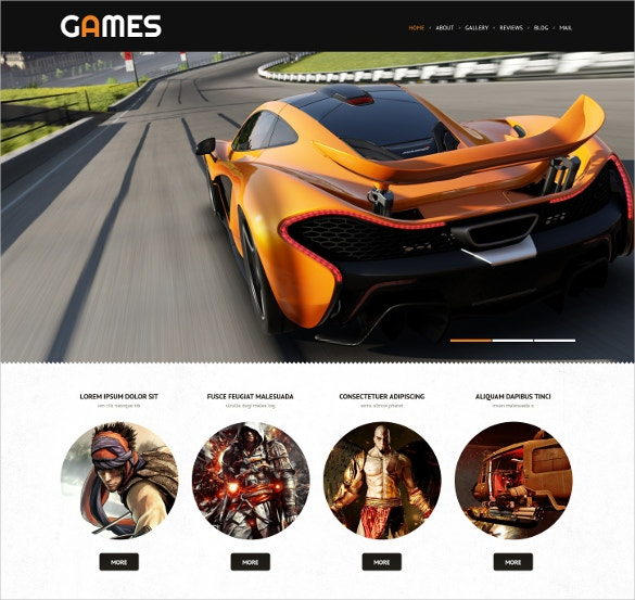 Game Portal Responsive WordPress Website Theme $75