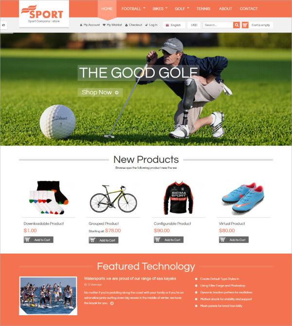 responsive sportswear magento theme 84