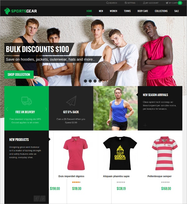 Unique Sports Magento Theme