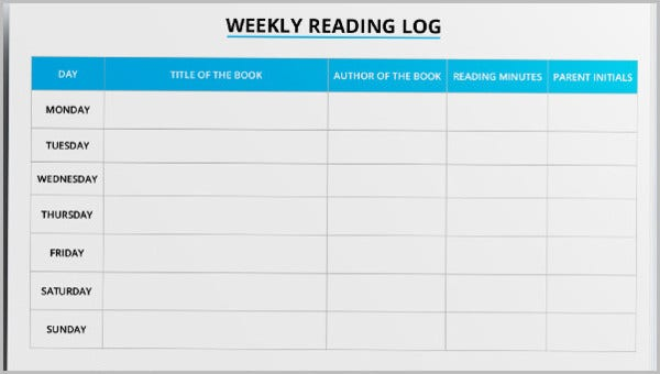 25 Best Reading Log Templates Free Premium Templates