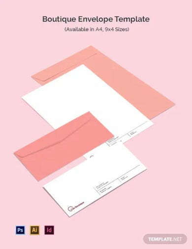boutique envelope template