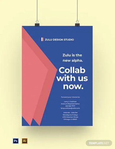 design ad agency poster template
