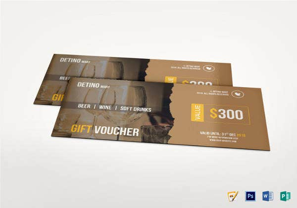drink voucher and coupon card template