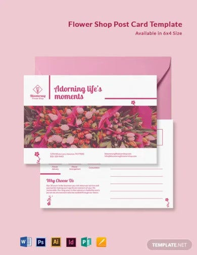 flower shop post card template