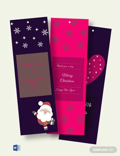 free xmas blank bookmark template