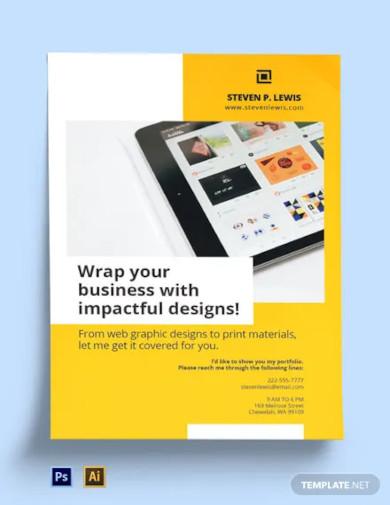 freelance graphic designer poster template