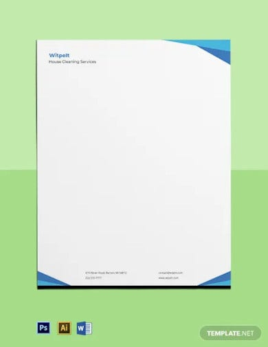 house cleaning letterhead template