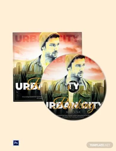 premium cd cover template