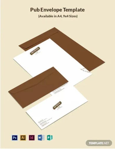 pub envelope template