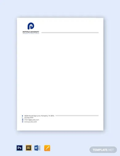 university department letterhead template