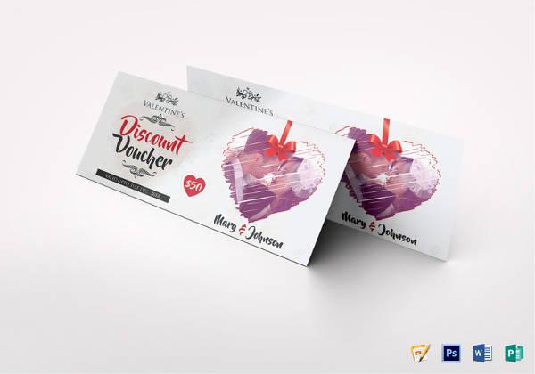 valentines discount voucher template