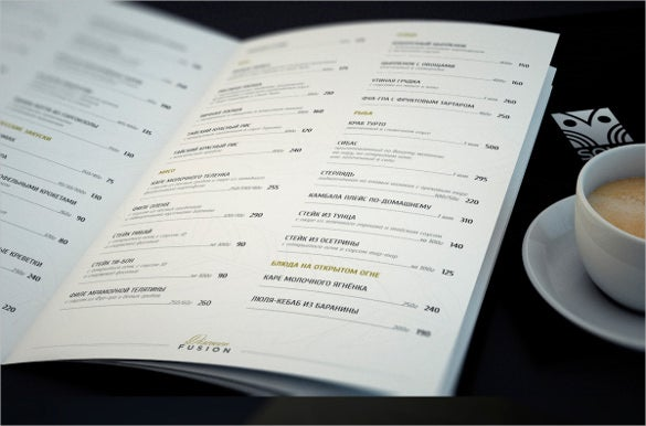 restaurant menu template download