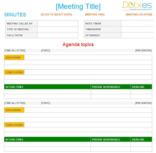25+ Free Meeting Minutes Templates | Free & Premium Templates