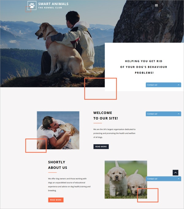Smart Animals & Pets Website Template