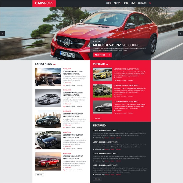 Cars News Joomla Website Template $75