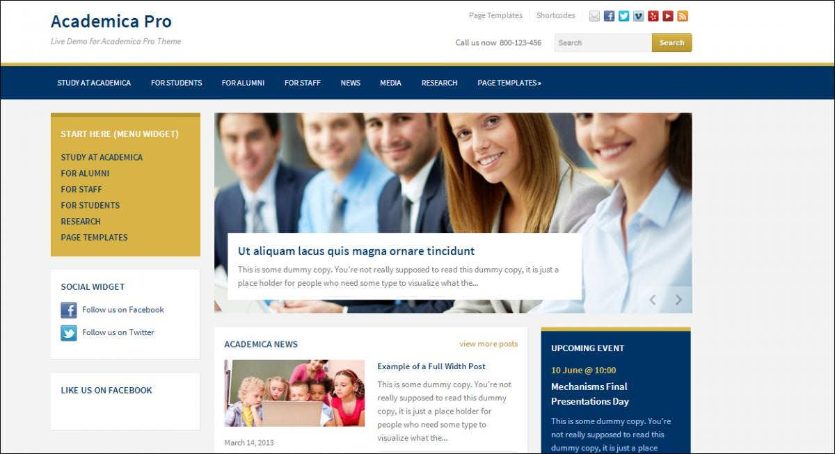 Academic Blog Themes
