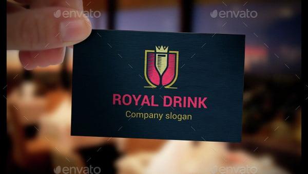 fully editable drink logo template