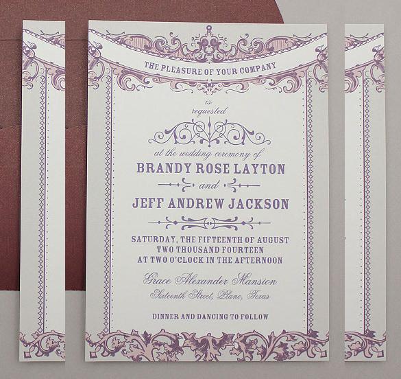 34 wedding invitation design templates psd ai indesign free perfect vintage wedding invitation template stopboris Image collections