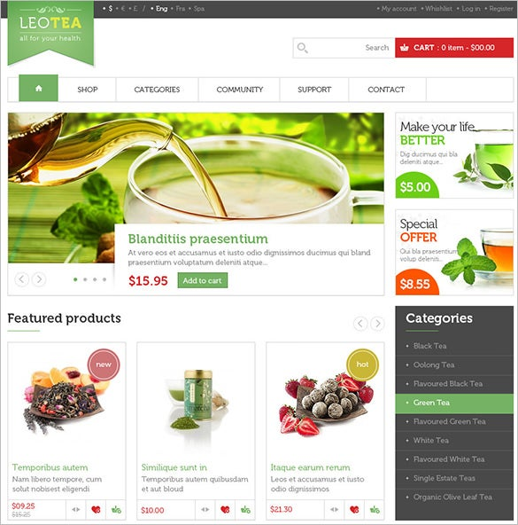 beautiful restaurant prestashop theme