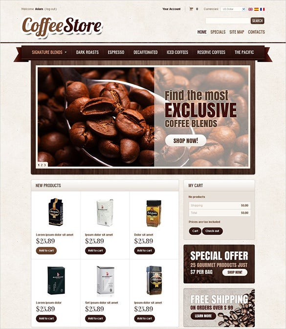 pretty restaurant prestashop template
