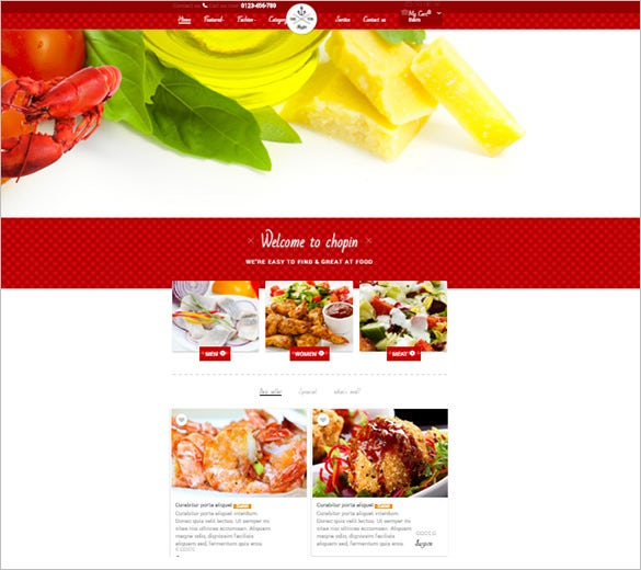 superb restaurant prestashop template
