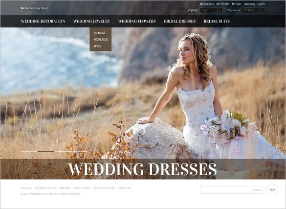 wedding dresse magento theme