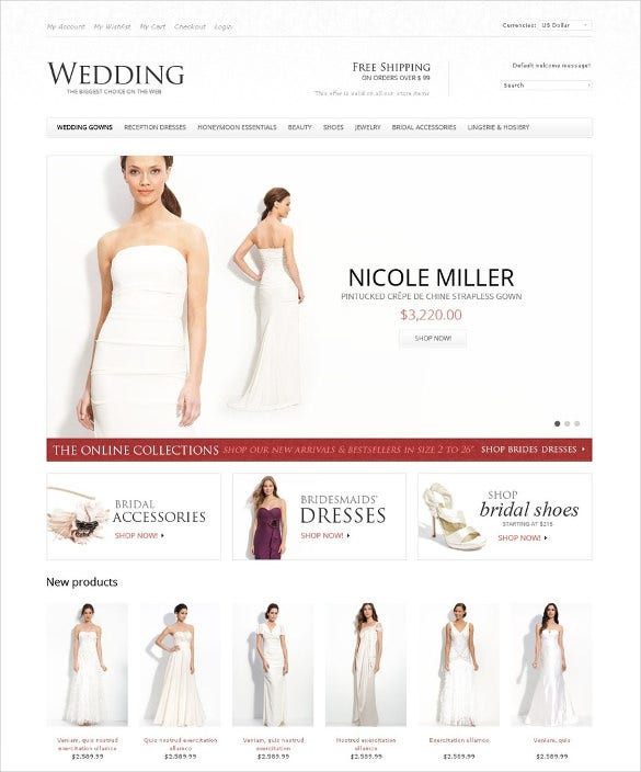 wedding store magento template